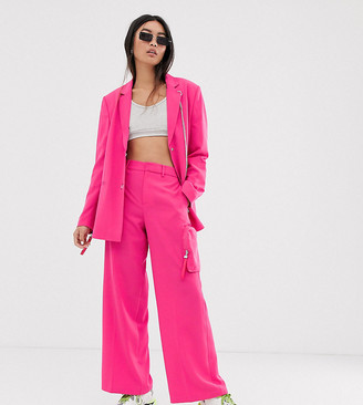 COLLUSION wide leg tailored pants with pocket
