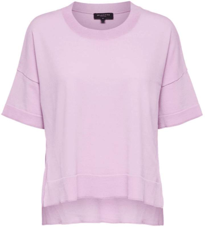bfada56087e Purple Orchid Bouquet Viscose Loose Fit T Shirt - SMALL - Pink