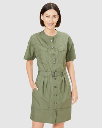 French Connection Women's Dresses - Belted Utility Dress - Size One Size, 16 at The Iconic