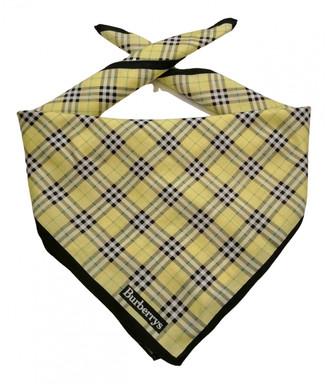 Burberry Yellow Cotton Scarves & pocket squares