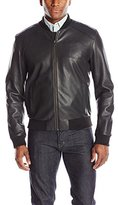 Cole Haan Men's Lamb Leather Varsity Jacket