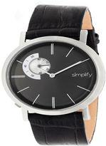 Simplify Unisex Black Strap Watch-Sim3102