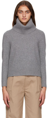 Totême Grey Wool and Cashmere Prati Turtleneck