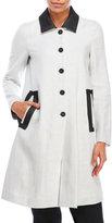 Hache Linen-Blend Coat