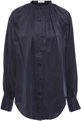 Equipment Causette Washed Silk-blend Satin Blouse