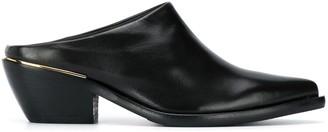 Peserico Pointed Toe Block Heel Mules