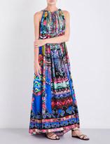 Camilla Printed silk-georgette maxi dress