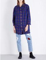 SteveJ & YoniP STEVE J & YONI P Checked cotton-flannel shirt dress