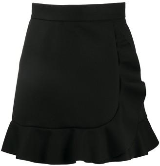 RED Valentino Frilled Hem High-Waisted Skirt