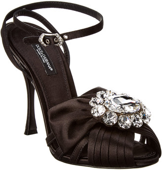 Dolce & Gabbana Jeweled Satin Sandal