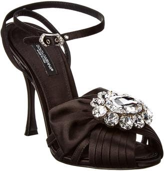 Dolce & Gabbana Jeweled Satin Sandal