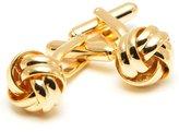 CuffSmart Gold Plated Knot Cufflinks w/ Box