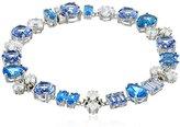 Judith Jack Sterling Silver/Swarovski Marcasite Blue Flex Link Bracelet