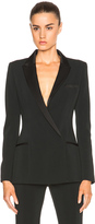 Thierry Mugler Fitted Cady & Draped Satin Blazer