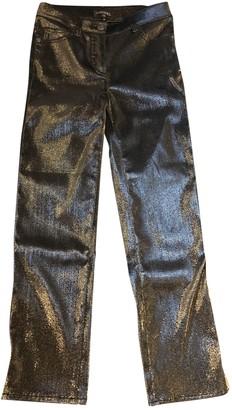 Chanel Metallic Cotton - elasthane Jeans for Women