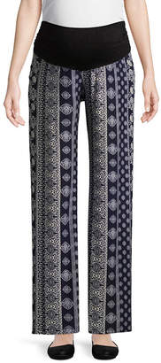 Planet Motherhood Over the Belly Palazzo Pant - Maternity