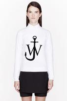J.W.Anderson White Flocked Logo Sweatshirt