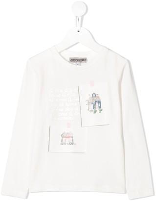 Simonetta Graphic Print Long-Sleeved Top