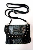 Leather Rock Snakeskin Studded Crossbody