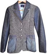 Christian Lacroix Blue Tweed Jacket for Women Vintage