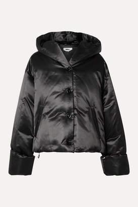MM6 MAISON MARGIELA Hooded Shell Down Jacket - Black