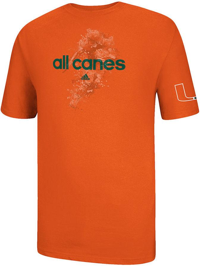 adidas Men's NCAA T-Shirt, All Canes-Miami T-Shirt