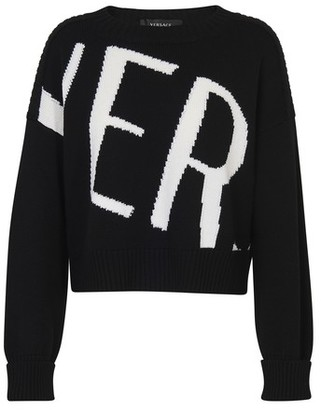 Versace logo long sleeve sweater
