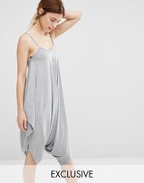 Stitch & Pieces Gray Relaxed Jumpsuit