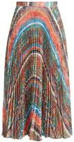 Marco De Vincenzo Chaos-print pleated midi skirt
