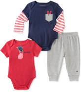 Tommy Hilfiger 3-Pc. Bodysuits & Pants Set, Baby Boys (0-24 months)