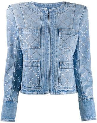 Balmain Gemstone Embellished Denim Jacket