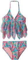 Hula Star Girls' Rose Tango Tankini Set (2T6X) - 8154268