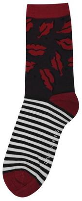 Lulu Guinness Half Stripe Socks