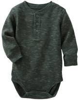 Osh Kosh Baby Boy Gray Thermal Slubbed Bodysuit