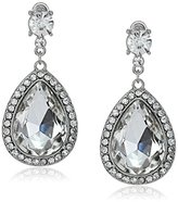 Nina 'Shanna' Large Pear Shaped Crystal Drop Earrings