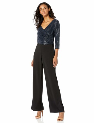 Adrianna Papell Women's Sequin Knit Crepe Jumpsuit