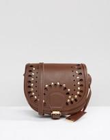 Glamorous Studded Western Saddle Bag