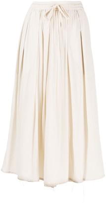 Kristensen Du Nord Midi Drawstring Skirt