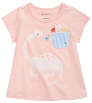 First Impressions Baby Girls Dinosaur-Print Cotton T-Shirt, Created for Macy's