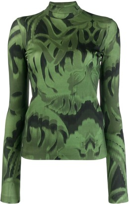 Just Cavalli printed roll neck jumper