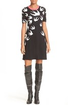 McQ by Alexander McQueen Women's Swallow Jacquard Skater Dress