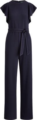 Ralph Lauren Jersey Flutter-Sleeve Jumpsuit