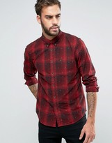 Lee Button Down Check Shirt Regular Fit Stitch Detail