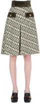 Gucci Printed Wool Shorts W/ Suede Details