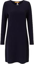 HUGO BOSS BOSS Orange Wyomai Textured Knitted Dress, Dark Blue