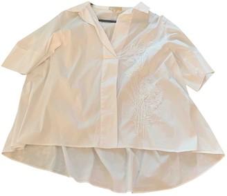 Mantu White Cotton Top for Women