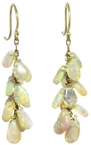 Ten Thousand Things Long Opal Cluster Earrings
