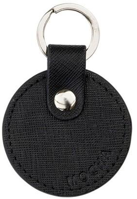 Mocha Jane Leather Key Ring - Black