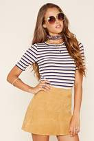 Forever 21 Contemporary Striped Tee
