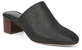 Via Spiga Women's Mitchel 2 Woven Block Heel Mules - 100% Exclusive
